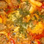 Фаршированная картошка(армянские блюда)